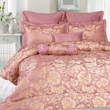 8pc Venny Rose  Comforter Set Size: Queen