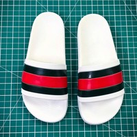 Gucci Leather Slide With Bow Fashion Style 108 - Best Online Sale