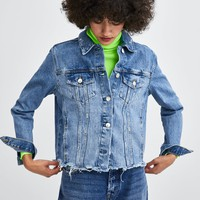 AUTHENTIC DENIM RIPPED JACKETDETAILS