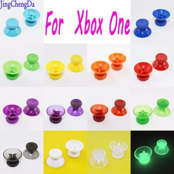 2Pcs Black red clear green blue yellow Replacement Analog Thumbstick Thumb Stick for Xbox one Controller