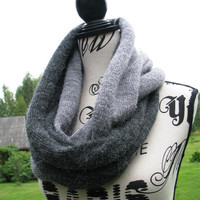 Loop scarf. Cowl, Infinity Scarf. Cashmere Handmade knitted scarf. sharf uniseks knit scarf. gift for men for. gift for women. stylish scarf