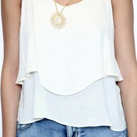 Monday Layered Tank in Oatmeal | Tresics