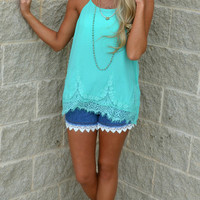 Oh So Jaded Laced Top