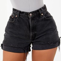 Blacked Out Denim Shorts By Sorella
