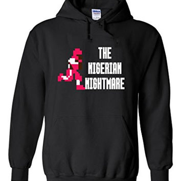 "Christian Okoye Tecmo Bowl ""The Nigerian Nightmare"" Hooded Sweatshirt ADULT LARGE"