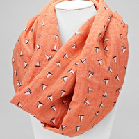 Cozy by LuLu- Coral Sailboat Infinity Scarf