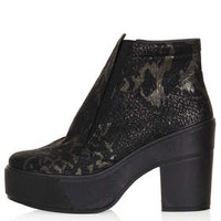 AIMEE SNAKE GUSSET BOOTS