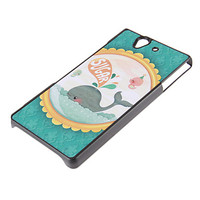 Cute Whale Pattern Frosted Surface Hard Case for Sony L36h - USD $ 2.99