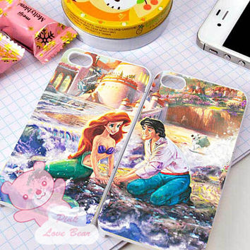 Thomas Kinkade Little Mermaid couple Design for iPhone 4, iPhone 4s, iPhone 5, Samsung Galaxy S3, Samsung Galaxy S4 Case