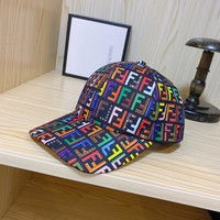 FENDI Cotton Outdoor Sports Baseball Golf Cap Hat