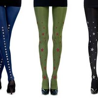 Dress Like a Star! Star Print Tights + Coupon