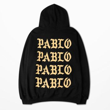 I Feel Like Pablo Black Sweatshirt with Hood