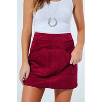 Think About It Skirt: Wine