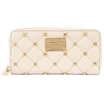 MICHAEL Michael Kors Handbag, Quilted Stud Zip Around Continental Wallet - Accessories - Handbags & Accessories - Macy's