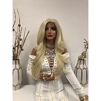 """Blond Swiss Lace Front Wig   24"""" Soft Layered Hair   Pai 1018 5"""