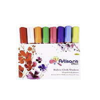 Artisan's Effect® - Radiant Chalk Marker & Craft Markers 8 Pack  with 6mm Reversible Tip for Crafts