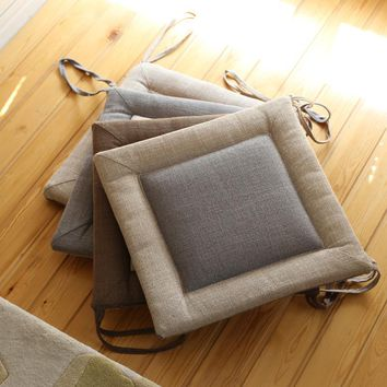 Floor Cushions Futon Meditation Cushion Thickening Breathable Seat Cushion Cotton and Linen Tatami Cushion Japanese Style