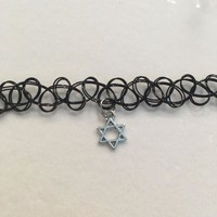 Tattoo Choker with Star of David
