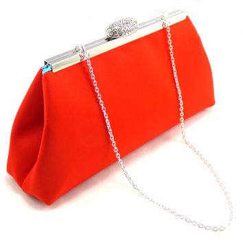 Bright Red and Aqua Blue Wedding Clutch