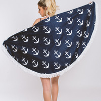 Mosaic Beach Towel - Anchor Away