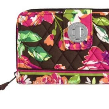 Vera Bradley Turn Lock Wallet in English Rose