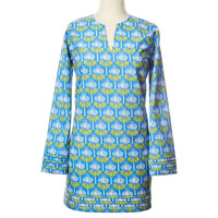 Audrey Tunic, Blue/Green, Pajamas