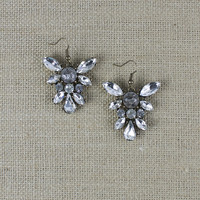 Antiqued Crystal Jewel Earrings