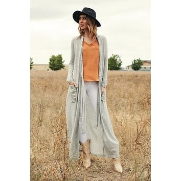 Keep Me In The Loop Cardigan (Heather Grey)