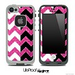 Pink Sparkle Print & Black/White Chevron Pattern Skin for the iPhone 5 or 4/4s LifeProof Case