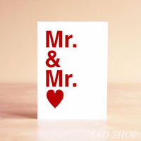 Gay Wedding Card  Gay Engagement Card  Gay Engagement by sadshop