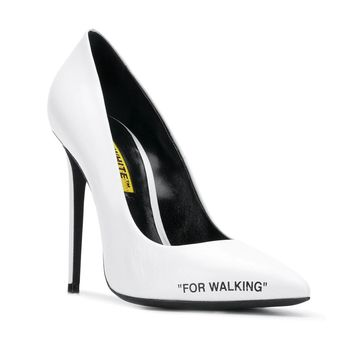 White High Heel Pumps by OFF-WHITE