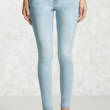 Low-Rise Skinny Push-Up Jeans