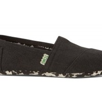 TOMS Black and White Earthwise Women's Vegan Classics Slip-on Shoes ,