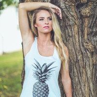 Pineapple Graphic Tank in Mint