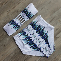 Beach Bathing Suit Push Up Swimwear High Waist Swimsuit Bikinis Set