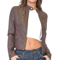 The Rebel Faux Leather Moto Jacket