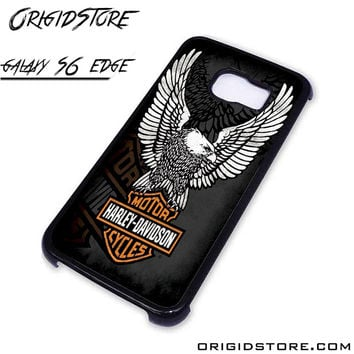 harley davidson motorcycle eagle logo For Samsung Cases Phone Covers Phone Cases Samsung Galaxy S6 Edge Case Samsung Galaxy S6 Edge Case Smartphone Case