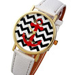 Red, White and Blue Nautical Chevron Anchor Watch