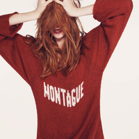 MONTAGUE- PENNY LANE SWEATER at Wildfox Couture in BURGUNDY