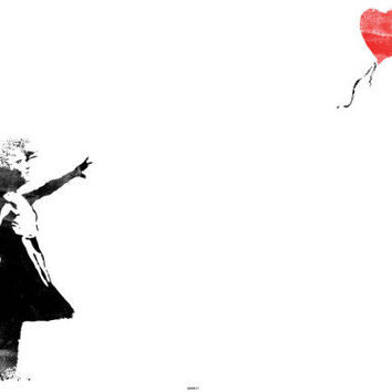 Heart Balloon Girl Prints by Banksy at AllPosters.com