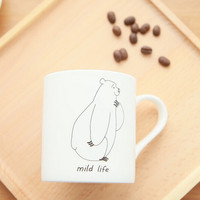 cute bear ceramic coffee mug