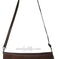 Monogrammed Brown Penny Cross Body Wristlet Purse