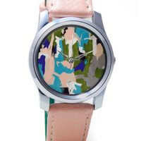 Abstract Art Splash Wrist Watch