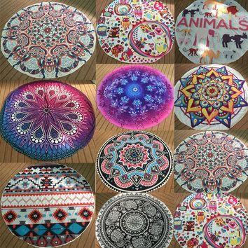 Vintage Round Mandala Indian Tapestry Wall Hanging Bohemian Hippie Yoga Mat Beach Picnic Throw Towel Rug Blanket Home Decor