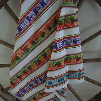 Andes Aymara Fabric Traditional Textiles Sewing Crafting Home Decor