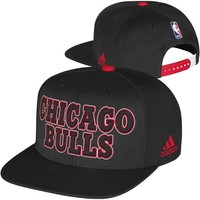 adidas Chicago Bulls 2013 NBA Draft Authentic Snapback Hat - Black