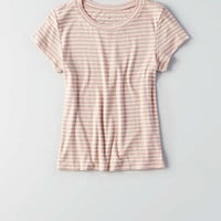 AEO Soft & Sexy Ribbed Tomgirl T-Shirt , Mauve