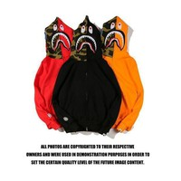 Bape Shark Hoodies Zippers Top Jacket Hooded