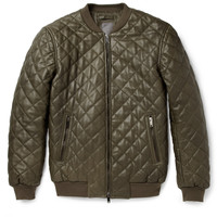 Lot78 - Quilted-Leather Bomber Jacket | MR PORTER