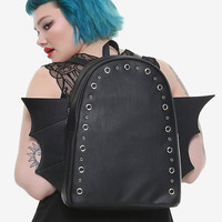 Black Bat Wing Backpack